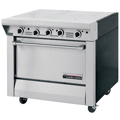 Garland Master Series Heavy Duty Even Heat Top Gas Range with Storage Base M46S
