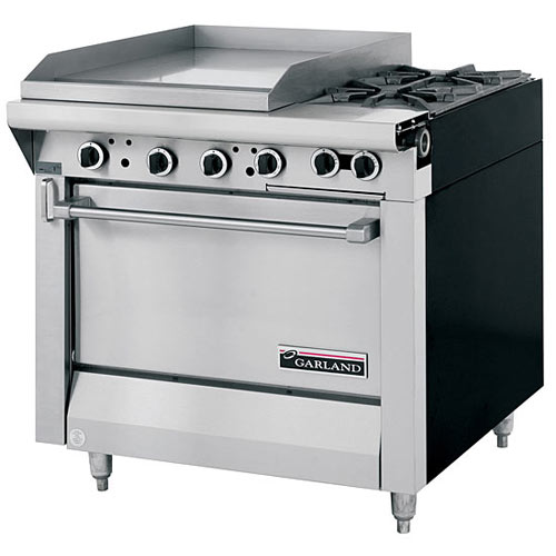Garland Master Series Heavy Duty Mixed Top Gas Range - 2 Burners & Griddle M47-23R
