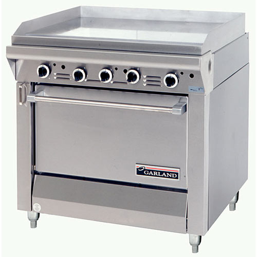 Garland Master Series Heavy Duty Griddle Top Gas Range - Storage Base M48S