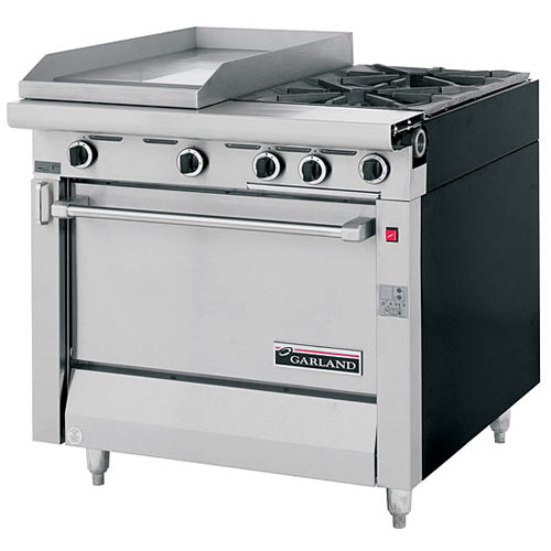 Garland Sentry Series Heavy Duty Mixed Top Gas Range - 2 Burner & Griddle MST42S-E