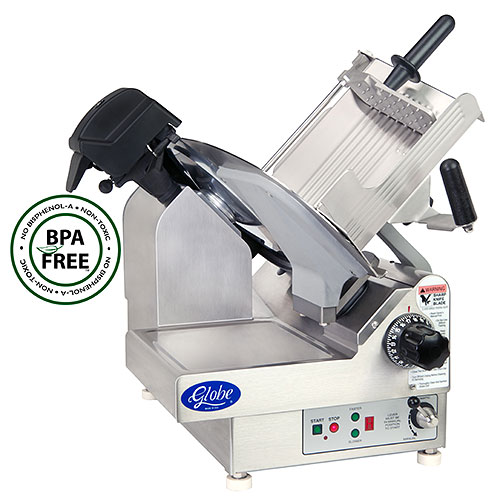 "Globe Premium Heavy-Duty Automatic Meat Slicer - 13"" 2 Speed 3850N"