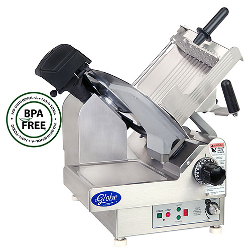 "Globe Premium Heavy-Duty Automatic Frozen Meat Slicer - 13"" 3850NF"