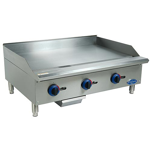 "Globe Chefmate Gas Manual Controlled Griddle - 36"" C36GG"