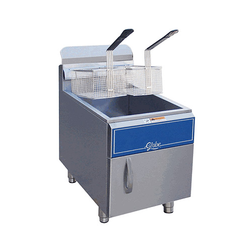 Globe Gas Countertop Fryer - 30 lbs Natural Gas GF30G