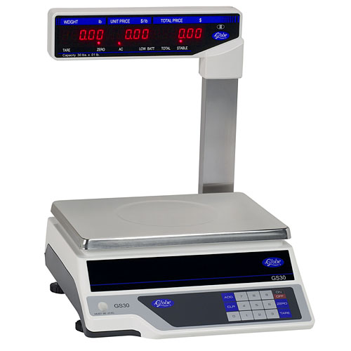 Globe Price Computing Scale with Display Tower GS30T