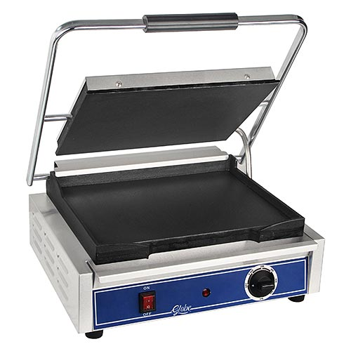 Globe Medium Electric Flat Cast Iron Sandwich Grill GSG1410