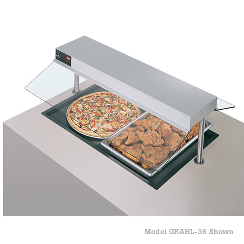 "Hatco Glo-Ray Drop in Heated Shelf w/Recessed Top - 48"" x 17""D GRSB-48-F"