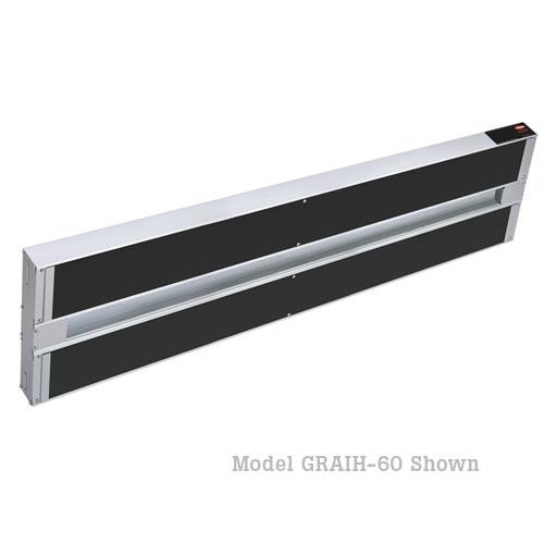 "Hatco Glo-Ray Infra-Black Dual Strip Heaters-60"" GRAIH-60D3"