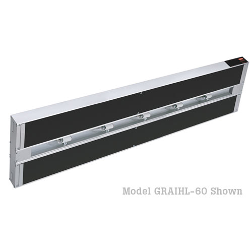 "Hatco Glo-Ray Infra-Black Dual Strip Heaters with Lights-60"" GRAIHL-60D3"