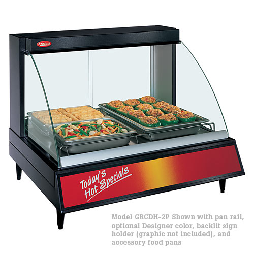 Hatco Curved Designer Heated Display Case- Single Shelf- 2 Pan GRCD-2P