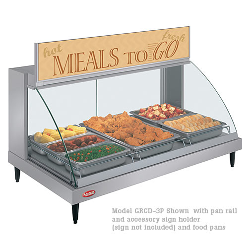 Hatco Curved Designer Heated Display Case- Single Shelf- 3 Pan GRCD-3P