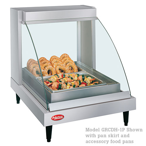 Hatco Curved Designer Heated Display Case- Single Shelf- 1 Pan GRCD-1P