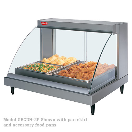 Hatco Curved Designer Heated Display Case- Single Shelf w/ Humidity- 2 Pan GRCDH-2P