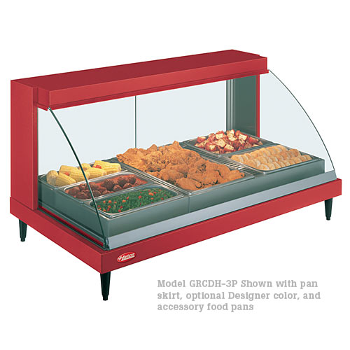 Hatco Curved Designer Heated Display Case- Single Shelf w/ Humidity- 3 Pan GRCDH-3P
