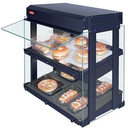 Hatco Heated Glass Mini Merchandiser - Slanted Hardcoated Base GRHW-1SGDS