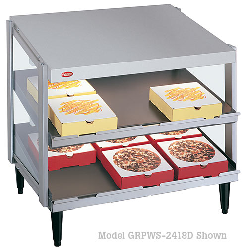 "Hatco Glo-Ray Dual Shelf 24""x24"" Pizza Warmer GRPWS-2424D"