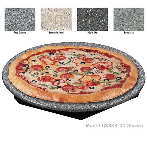 "Hatco Glo-Ray Round Heated Stone Shelf - 16"" GRSSR-16"