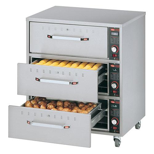 Hatco Freestanding Three-Drawer Warmer HDW-3-120-QS