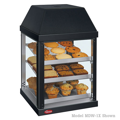 Hatco Heated Mini Display Case w/ 2 doors, 3 shelves MDW-2X