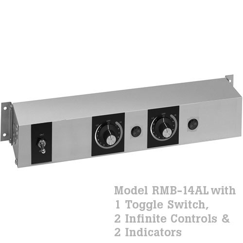 Hatco Remote Control Enclosure, 1 Toggle, 2 Infinite, 2 Indicators -120V RMB-14AL