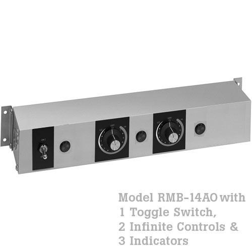 Hatco Remote Control Enclosure, 1 Toggle, 2 Infinite, 3 Indicators -120V RMB-14AO