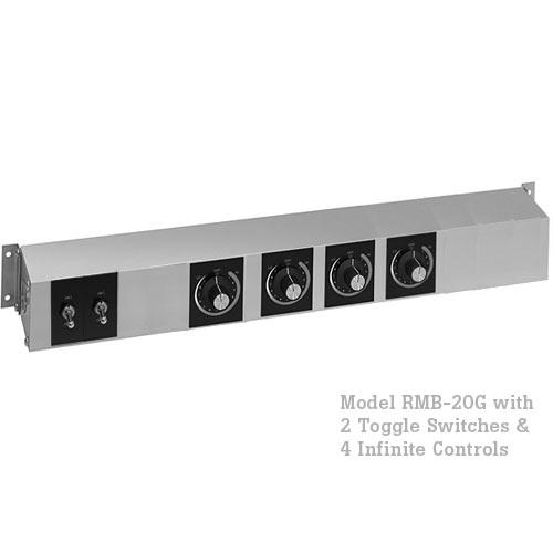 Hatco Remote Control Enclosure, 2 Toggle, 4 Infinite -120V RMB-20G