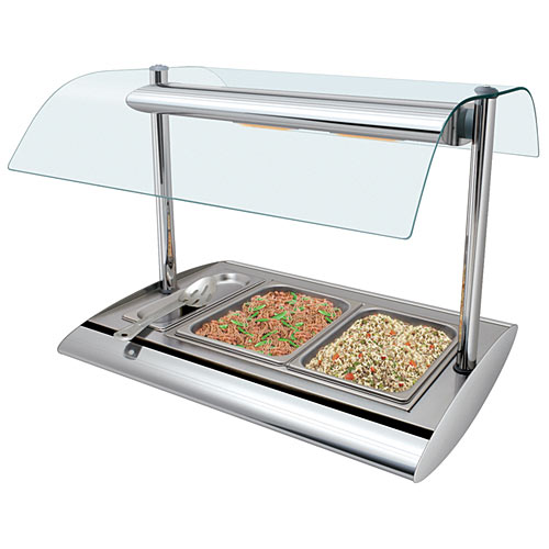 Hatco Serv-Rite Portable Buffet Warmer w/ Sneeze Guard  SRBW-1
