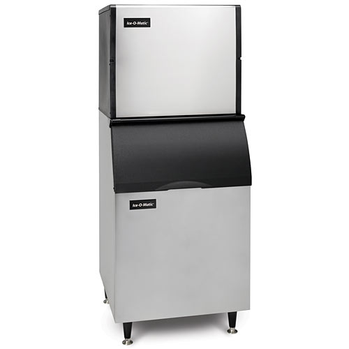Ice-O-Matic Modular Air Cooled Full Cube Ice Maker w/ Bin - 958 lbs ICE0806FA/B55PS