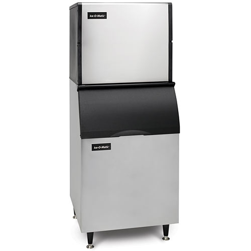 Ice-O-Matic Modular Air Cooled Full Cube Ice Maker w/ Bin - 1109 lbs ICE1006FA/B55PS