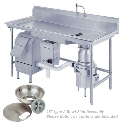 "InSinkErator Waste Xpress System - 18"" Type A Sink Bowl Assembly  WX-300-18A-WX101"