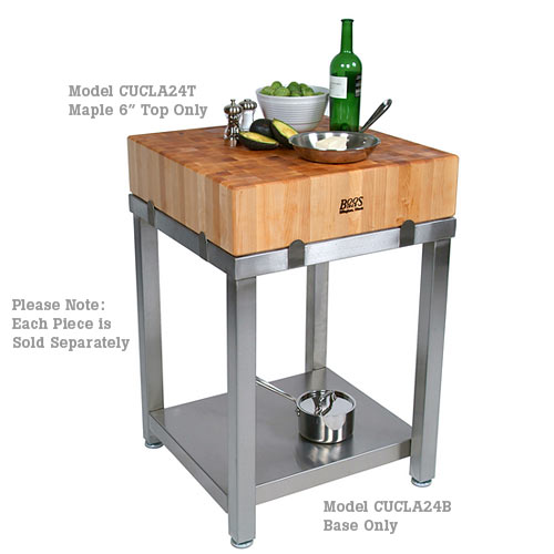 "John Boos Cucina Laforza 6"" Thick Hard Maple Butcher Block - 24"" x 24"" CUCLA24T"