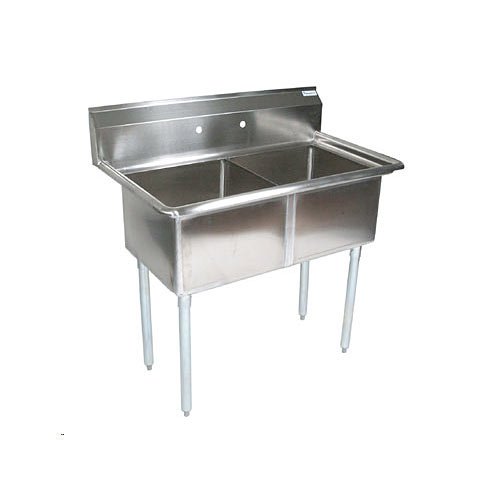 John Boos Stainless Steel Two Compartment Sink  E2S8-1620-12-X