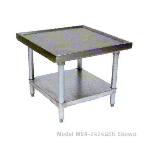 "John Boos 300 Series S/S Heavy Duty Machine Stand w/ Galvanized Base 30"" x 30"" MS4-3030GSK-X"