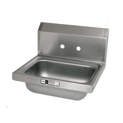 John Boos Stainless Steel Wall Mount Hand Sink  PBHS-W-1410-4D-X
