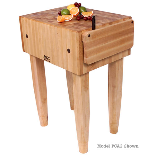 "John Boos Maple Pro Chef Butcher Block 10"" Deep  - 18"" x 18"" PCA1"