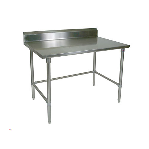 "John Boos 300 Series Stainless Steel Riser Top Work Table- 30"" x 24"" ST6R5-2430SSK-X"