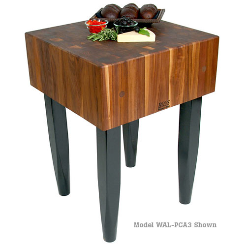 "John Boos Walnut Pro Chef Butcher Block 10"" Deep - 24"" x 18"" WAL-PCA2"