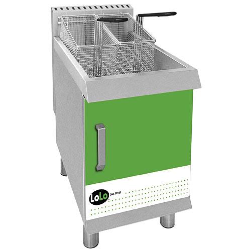 LoLo Gas Countertop Fryer - 30 lb Liquid Propane, LCF30TPF-L