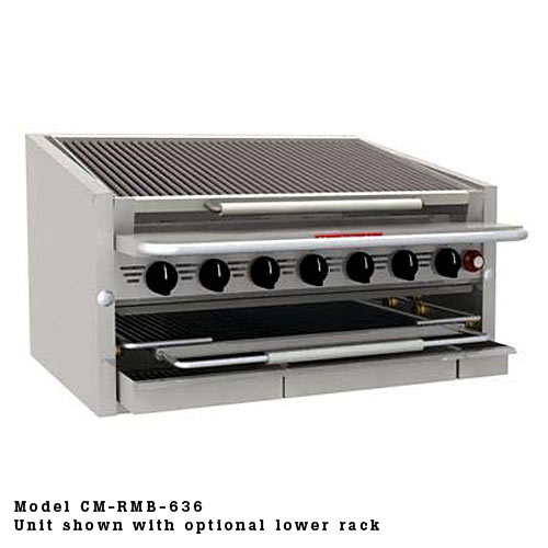 "MagiKitch'n Countertop Gas Radiant Charbroiler 60"" CM-RMB-660"
