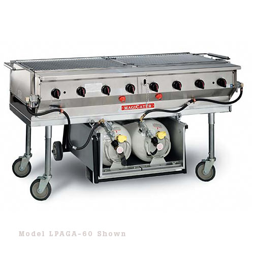 "MagiKitch'n Transportable Aluminized Gas Grill 30"" LPAGA-30"
