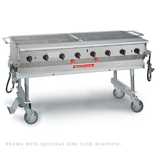 "MagiKitch'n Transportable S/S Gas Grill 60"" LPG-60-SS"