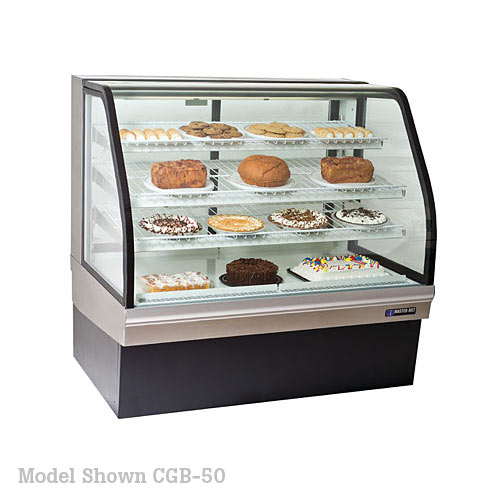 "Master-Bilt Curved Glass Bakery Merchandisers - 77"" CGB-77"