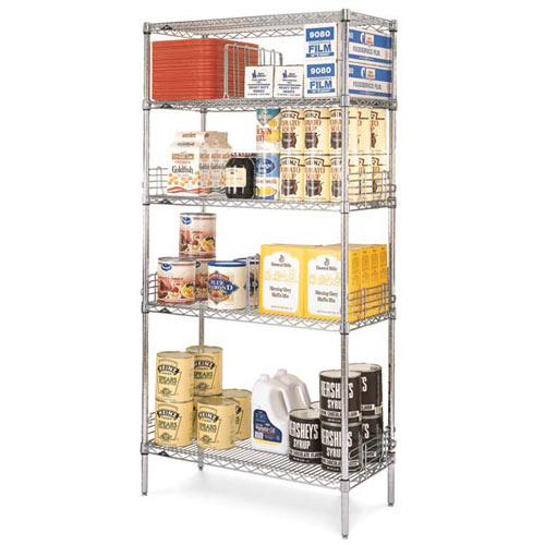 "Metro Super Erecta Convenience Pak 18"" X 36"" Chrome EZ1836NC-4"