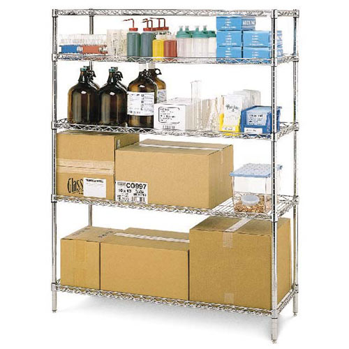 "Metro Super Erecta Convenience Pak 24"" X 48"" Chrome EZ2448NC-4"