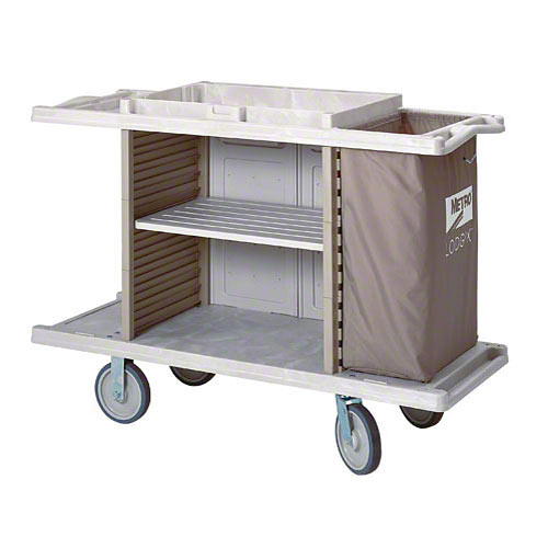 Metro Metro Lodgix™ Essentials Standard Height Housekeeping Cart LXHK3-ESS
