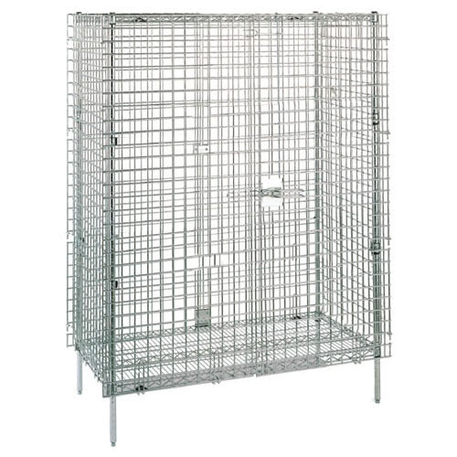 "Metro Super Erecta Shelf Stationary Security Unit 21.5"" W Chrome SEC33C"