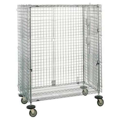 "Metro Super Erecta Shelf Mobile Security Unit 27.25"" W Chrome SEC56EC"