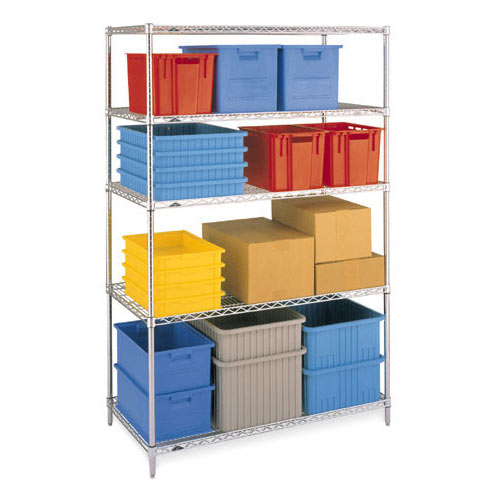 "Metro Super Erecta Convenience Pak 18"" X 60"" Chrome EZ1860NC-4"