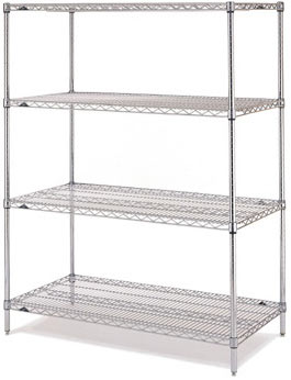 Chrome Finish Shelves