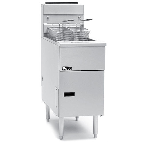 Pitco Solstice Standard Stand Alone Gas Fryer - 40-50 lbs SG14-S